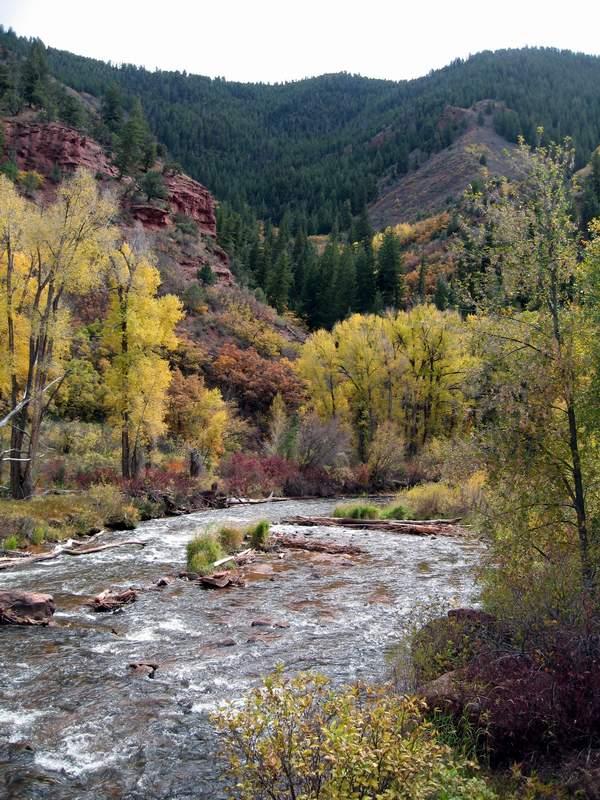 The frying pan river near basalt colorado - october 7th 2007