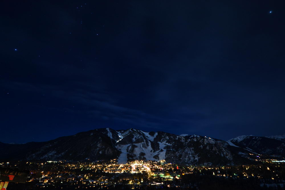 Sirius, Rigel And Jupiter Over Aspen Colorado January 10th 2012