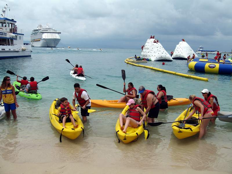 Labadee Kayak Adventure  Royal Caribbean Voyager Of The Seas Cruise Photos
