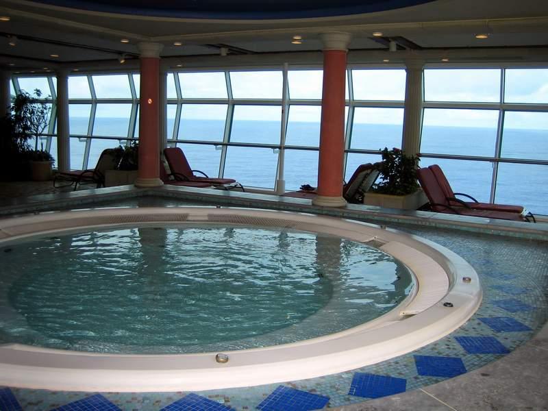 Explore The Beauty Of Caribbean: Solarium Hot Tub Spa On Royal Caribbean's Explorer Of The Seas