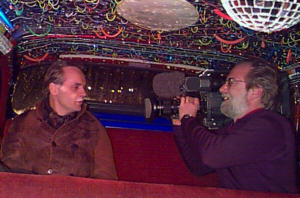 Joerg Hafkemeyer reports from the backseat of the Taxi on 1/11/97 for the ARD-TV show Tages Themen