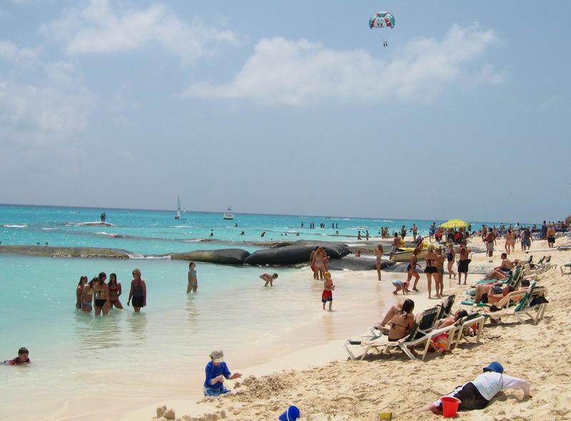 Riu Playacar Beach In Mexico
