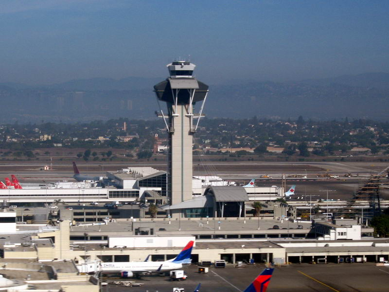 Airport Control Tower At Lax Los Angeles Airport Tower Photo