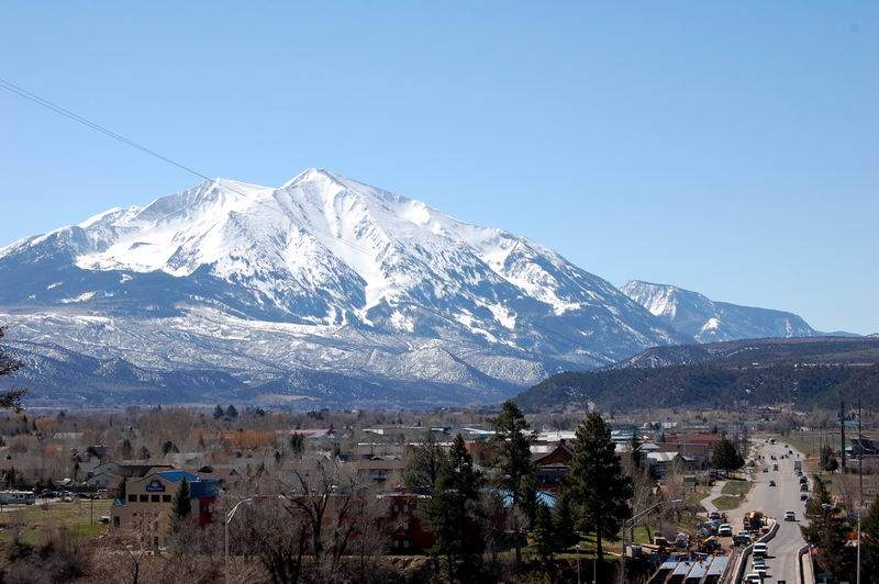 Carbondale Colorado And Mt Sopris April 14th 2008