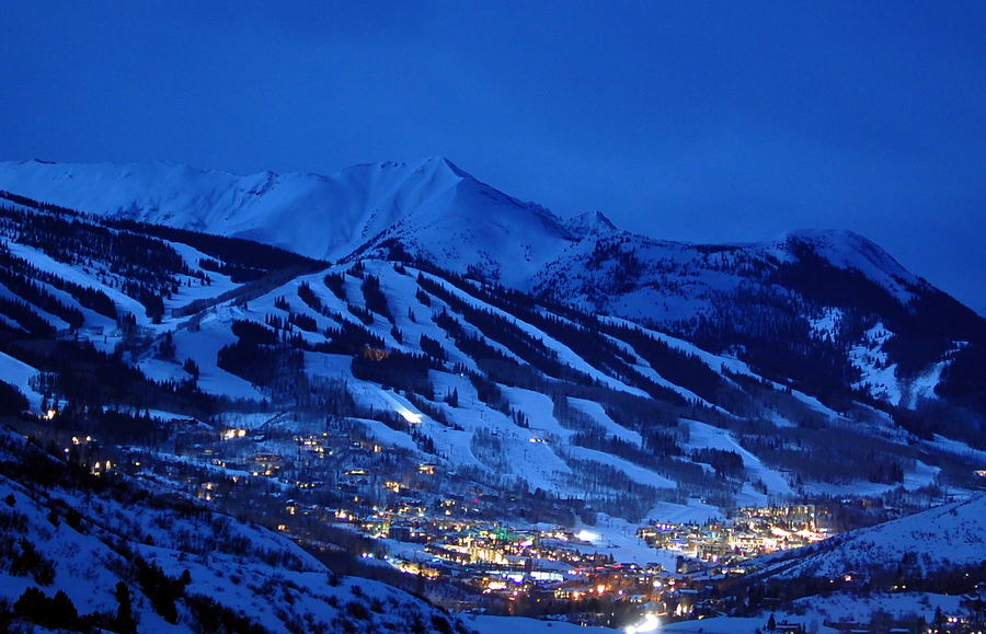 Snowmass Colorado Snowmass Colorado Under A Full Moon